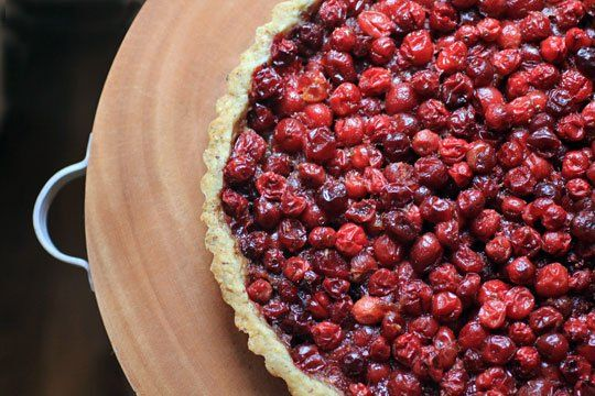For Thanksgiving - Cranberry Tart with Hazelnut Crust