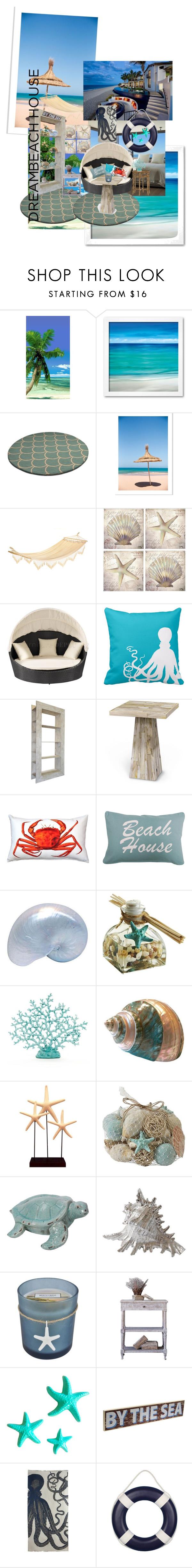 """beach house"" by alaina-dixon on Polyvore featuring interior, interiors, interior design, home, home decor, interior decorating, Dot & Bo, Thirstystone, Pillow Decor and Park B. Smith"