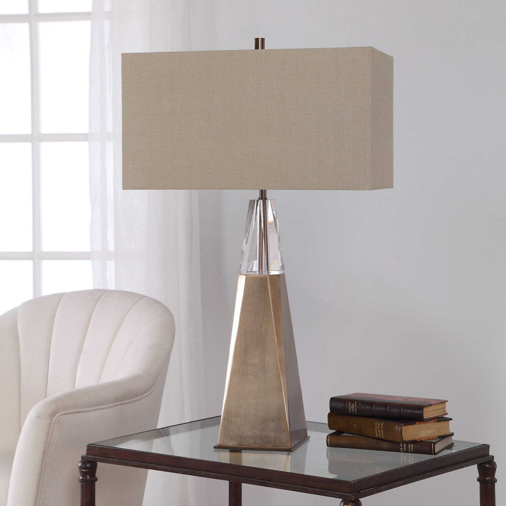 Crystal Cap Table Lamp In 2020 Table Lamps Living Room Brass Table Lamps Contemporary Table Lamps