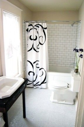 diy-network-rehab-addict-love-the-subway-and-hex-tiles-with-black-grout-for-an-older-bathroom-remodel.jpg 287×432 pixels