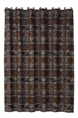Rio Grande Collection Shower Curtain 72x72 Navajo Print Country