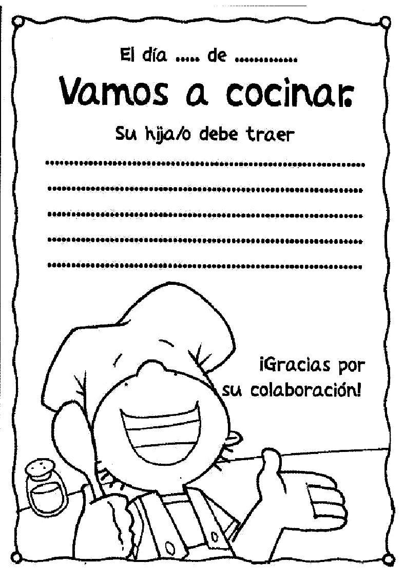 Recursos Para Educación Infantil Circular Para Recetas O Taller De Cocina Cocina Para Niños Taller De Portadores De Texto Educacion Infantil