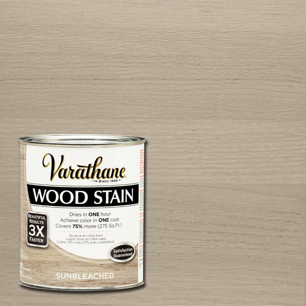 Varathane 1 Qt Sunbleached Premium Fast Dry Interior Wood Stain 2 Pack 266156 The Home Depot In 2020 Staining Wood Interior Wood Stain Bleached Wood