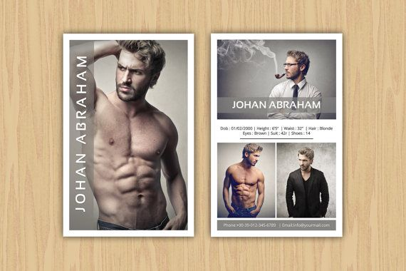 Model Comp Card Template Modeling comp card by ...