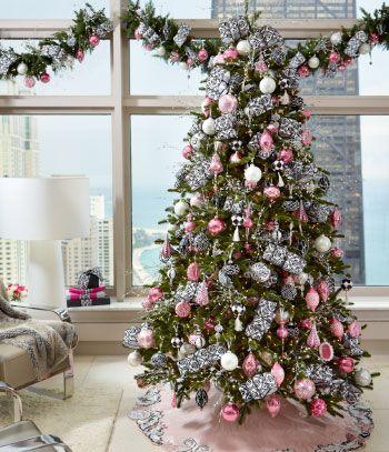 Natal Arvore Cor De Rosa Decoracao De Natal Natal Decoracao