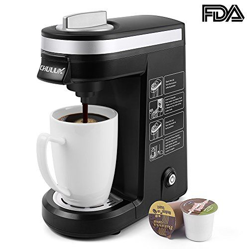 CHULUX Single Serve Coffee Maker Brewer for K Cups with 1 s