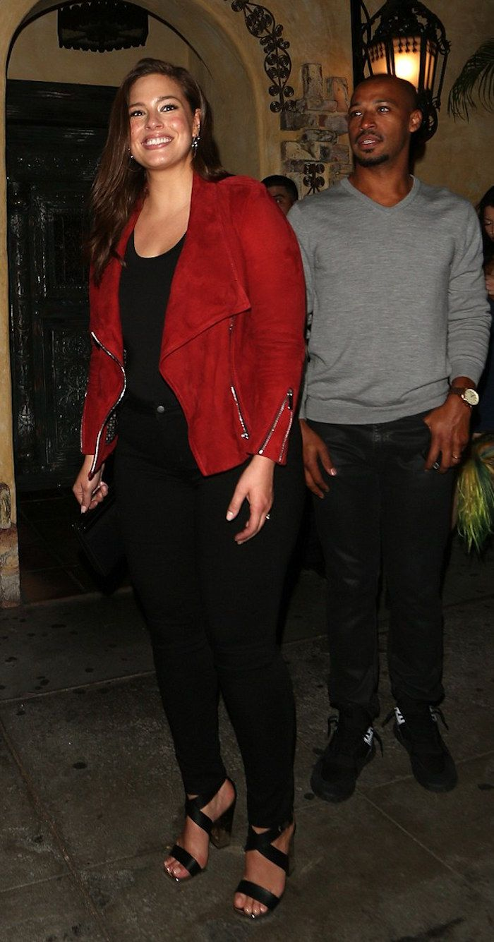 Model Ashley Graham Joined Her Husband Justin Earvin For A Date