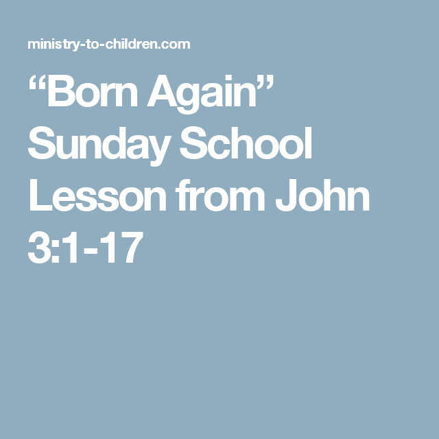 How To Be Born Again - a simple outline Bible study