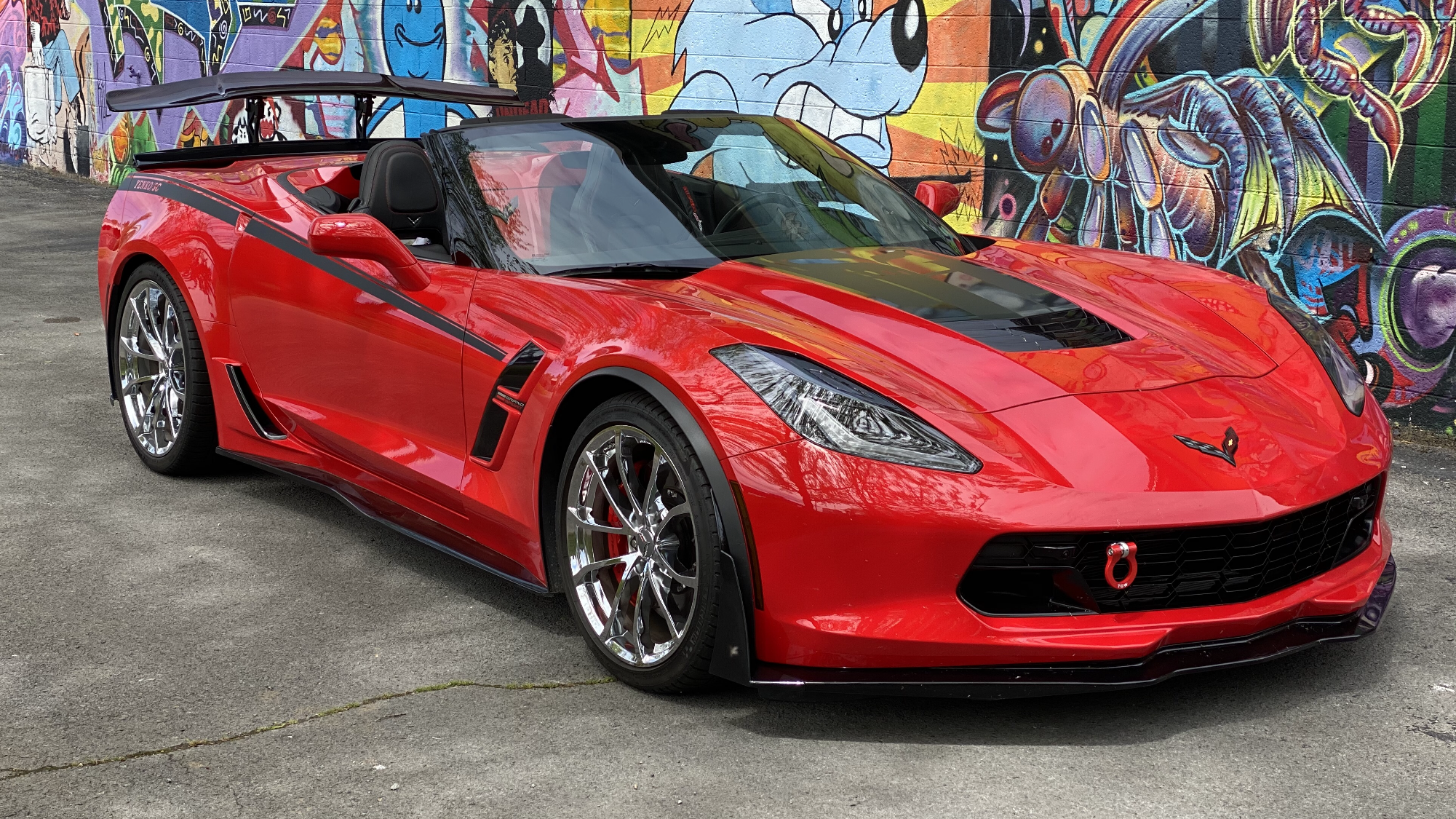 Pin By Mike Oaks On C7 Grand Sport Corvette Red Corvette Chevrolet Corvette Corvette