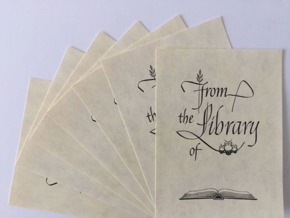 Set of 50 Vintage Owl Library Bookplates in by VintageRetrievers