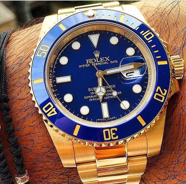 Rolex Submariner in 18k yellow gold
