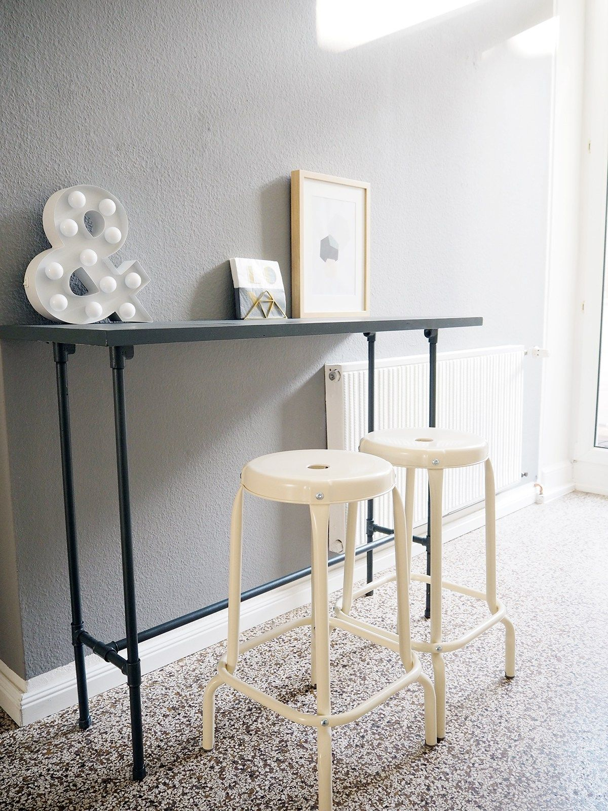 Diy Bartisch Aus Installationsrohren Küche Table Diy Und Furniture