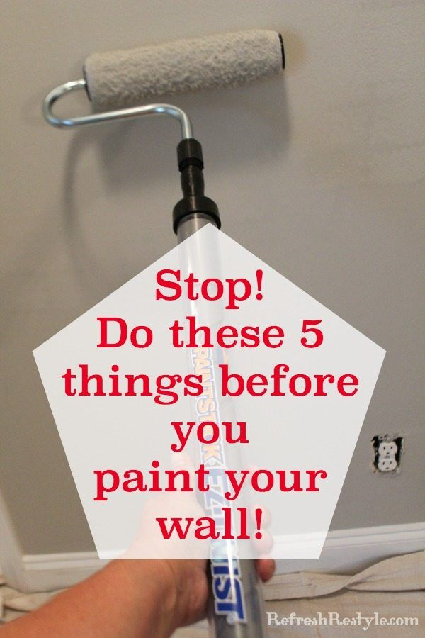 How To Prep Walls Before Painting Paint Refresh Diy Home Improvement Home Diy
