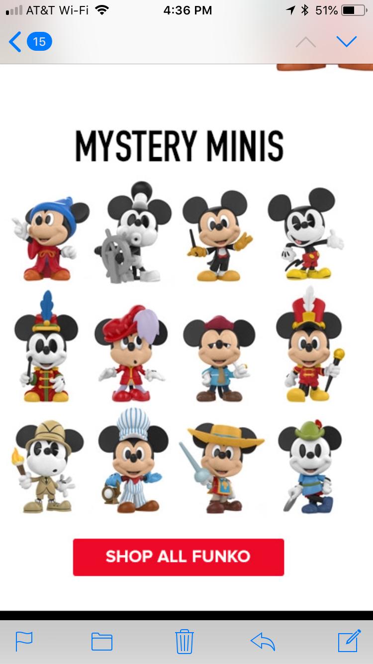 Funko MYSTERY MINIS Disney MICKEY/'S 90TH ANNIVERSARY Vinyl Figures Case of 12