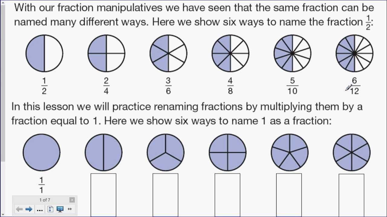 6th Grade Math Lesson 42 Saxon Math Math Math Fractions [ 720 x 1280 Pixel ]