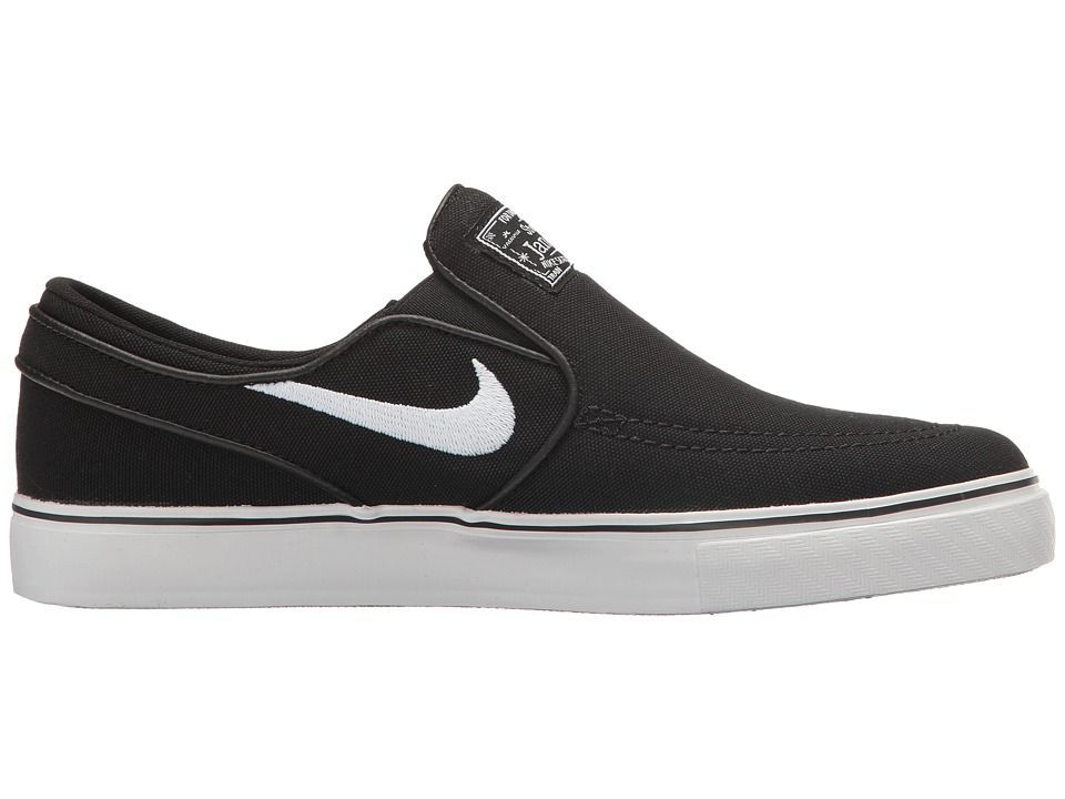 purchase cheap e77a6 45c60 Nike SB Kids Stefan Janoski Canvas Slip GS (Big Kid) Kids Shoes Black White