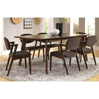 Shop for Romm Mid-Century Modern 7-piece Dining Set . Get free delivery at Overstock.com - Your Online Furniture Shop! Get 5% in rewards with Club O! - 17204562