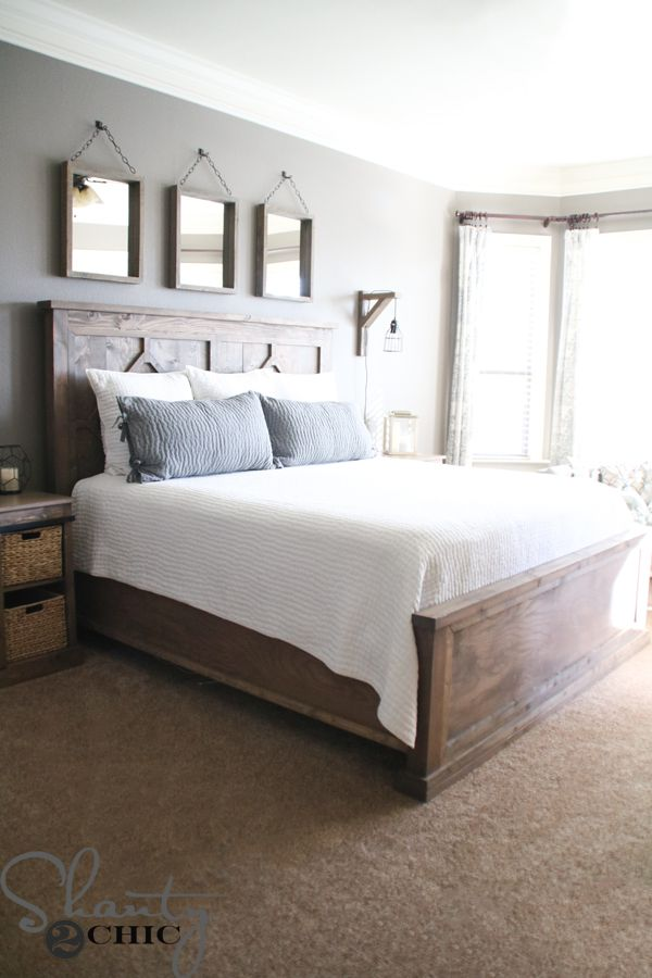 Designing Your Own Bedroom Diy Rustic Modern King Bed  Rustic Modern King Beds And Modern