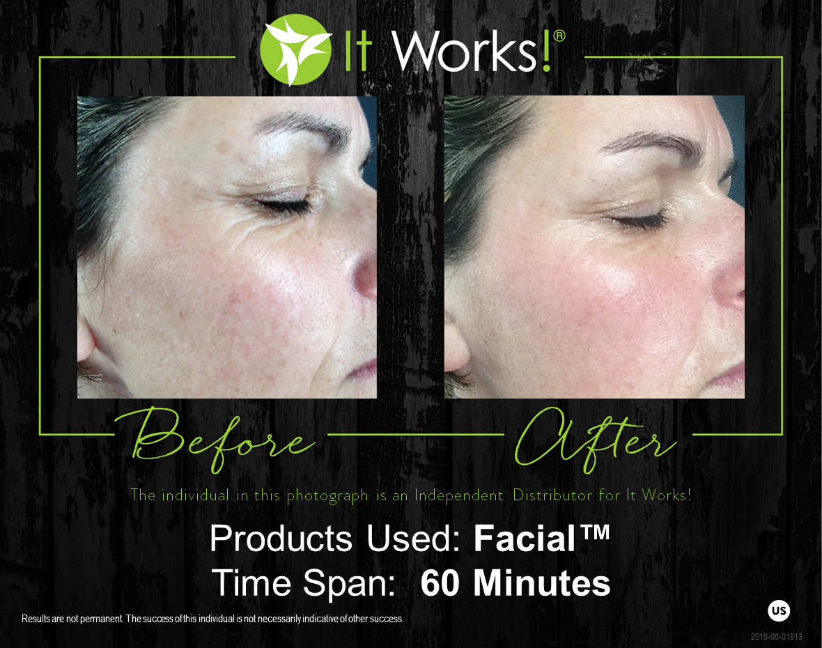It Works Wow Wipes Out Your Wrinkles In 45 Seconds You Will Start To Feel It Working And In 45 More Seconds A It Works Facials It Works Products Facial Wrap