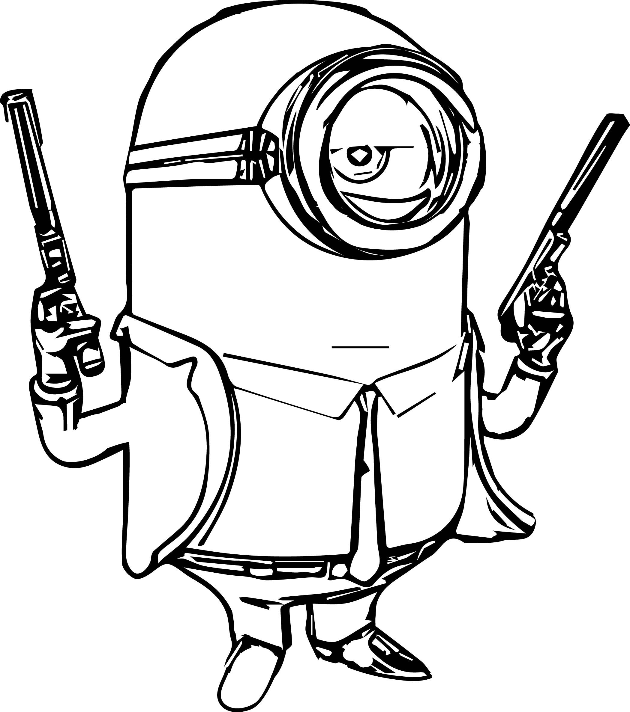 coloring pages minions angen - photo#27