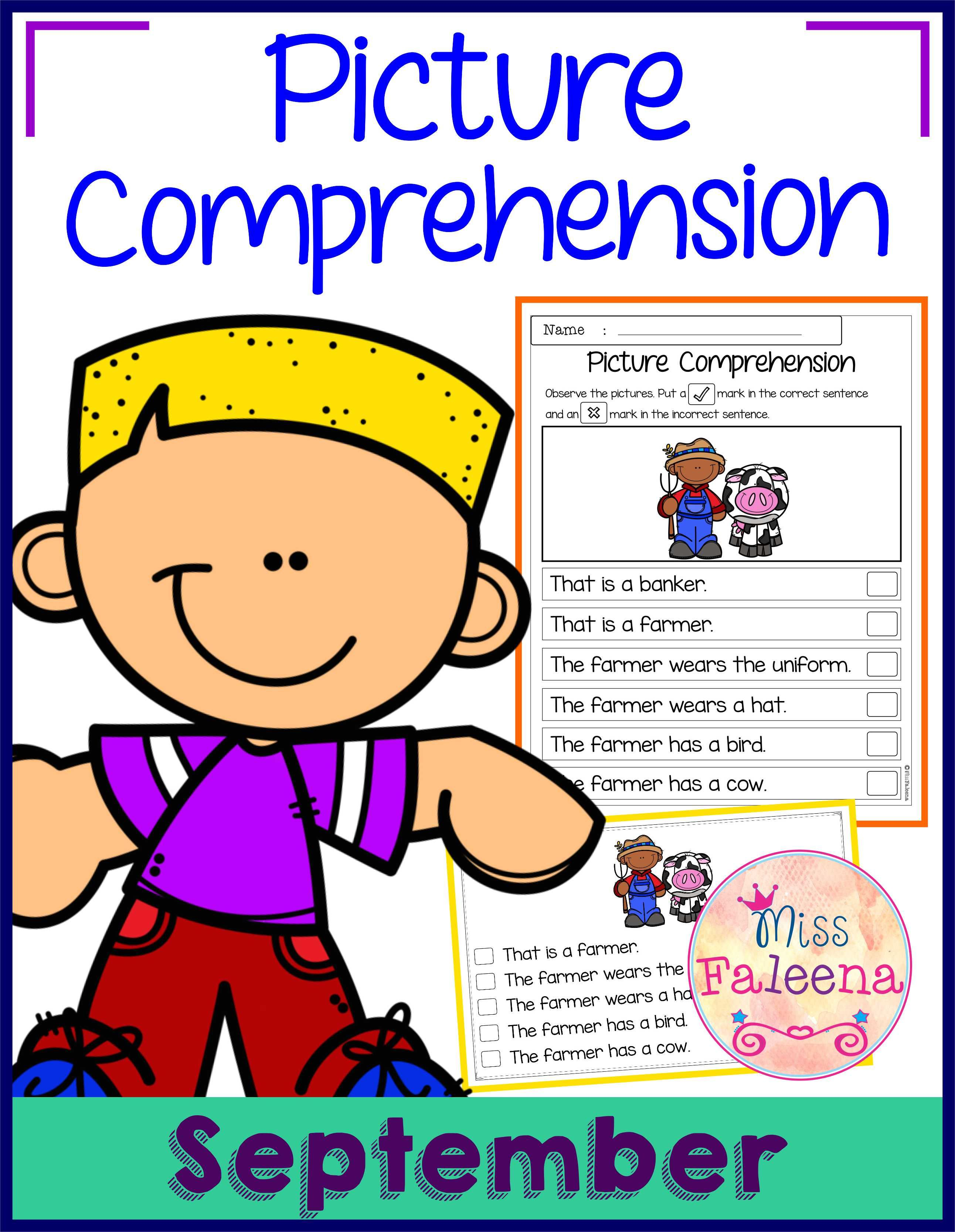 September Picture Comprehension There Are 20 Cards And 20