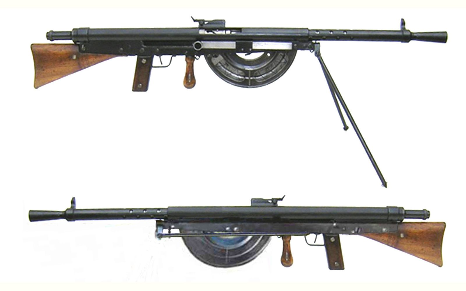 Fusil Mitrailleur Modele 1915 (Chauchat) - France - produced 1915-1922 Caliber 8…