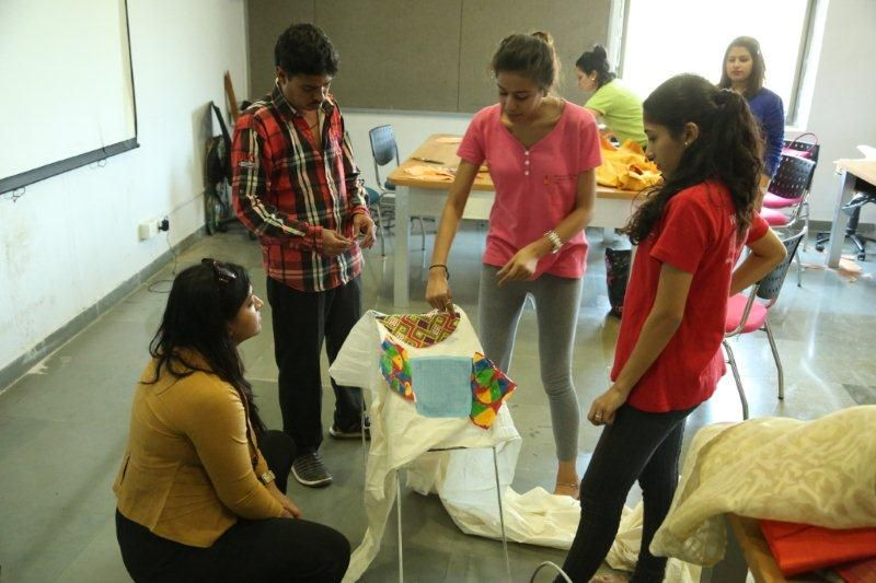 #WWNLSFStudents creating an installation for the Kala Ghoda Arts Festival, 2015, Mumbai