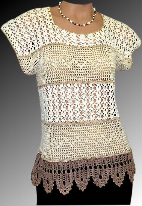 Foto del tejido a crochet de Carmen Rosa Torres | Blusas de crochê ...