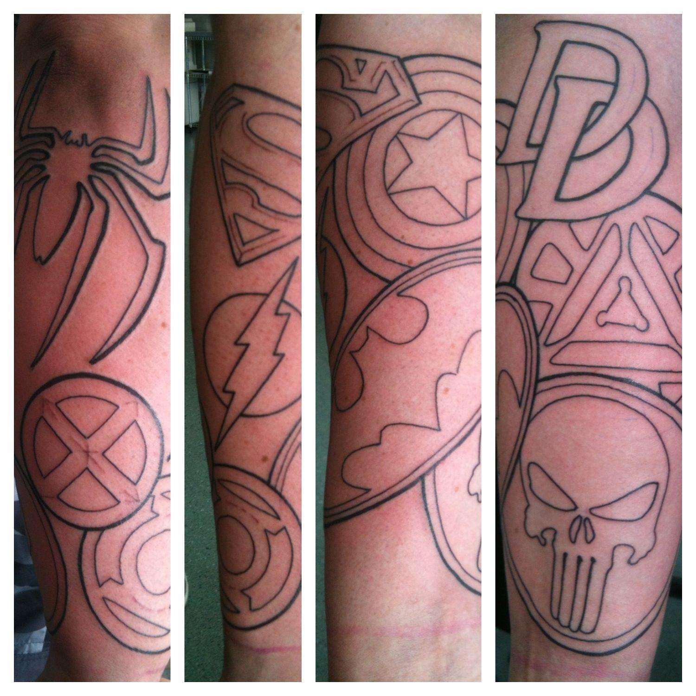 Flaming art tattoo for geek tattoo lovers this kind of batman - Geek Tattoos