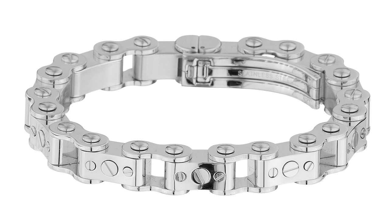 Icelink Steel Bicycle Bracelet Thick Link Design Watches Jewelry