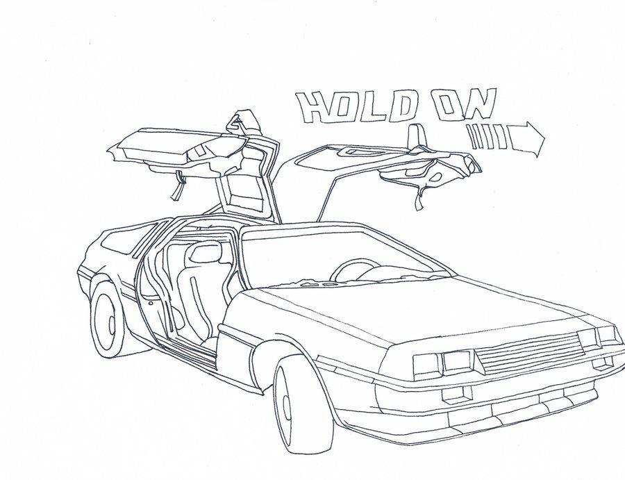Delorean Back To The Future Delorean Sketch Book