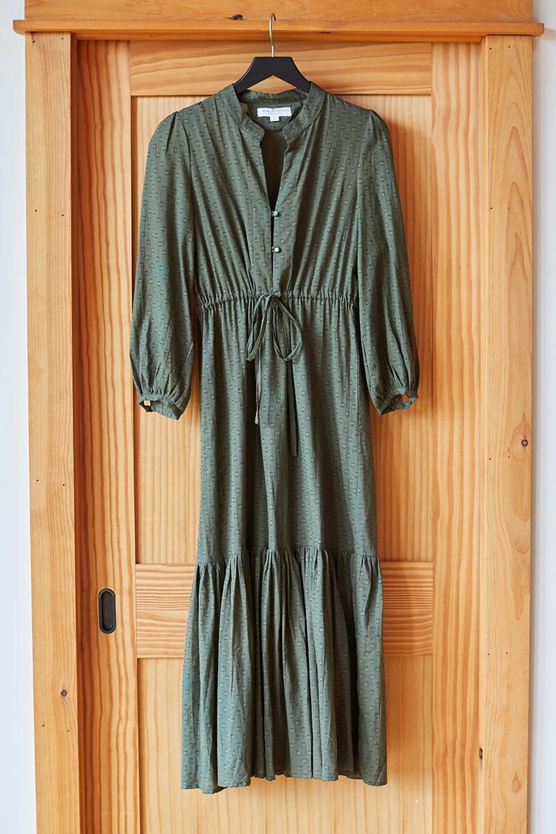 Frances Dress 2 Moss in 2020 France dress, Dresses