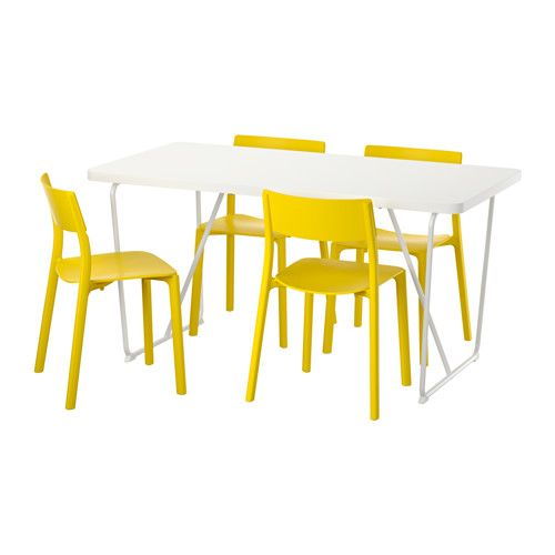 Rydeb 196 Ck Backaryd Janinge Table And 4 Chairs White