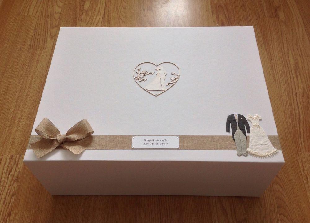 Extra Large Personalised Luxury Wedding Keepsake Box Add Any