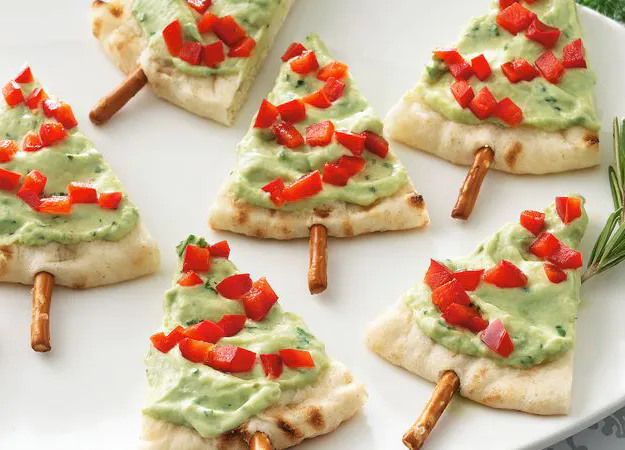 Pita Tree Appetizers Recipe Healthy christmas snacks