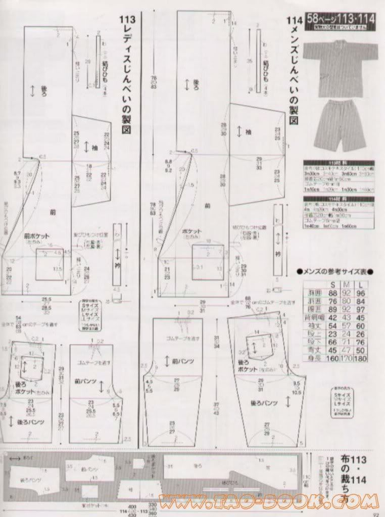 Jinbei Pattern Image | patrones | Pinterest | Patrones, Hilo and Agujas