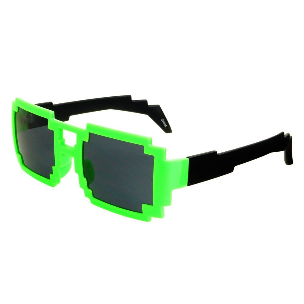 391a0201124 Pixelated 8 Bit Gamer Neon Party Sunglasses Shades P13