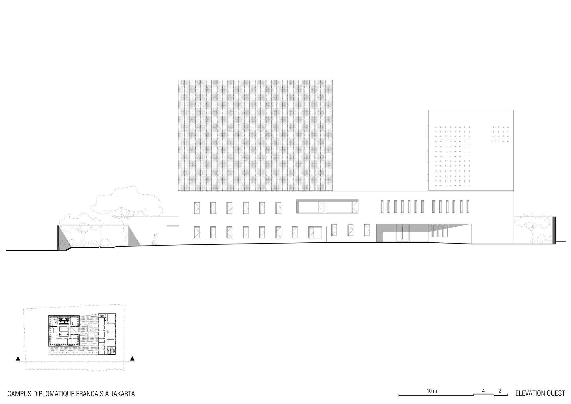 Imagem 30 de 30 da galeria de Embaixada da França e Instituto Francês em Jacarta / Segond-Guyon Architectes. Fachada