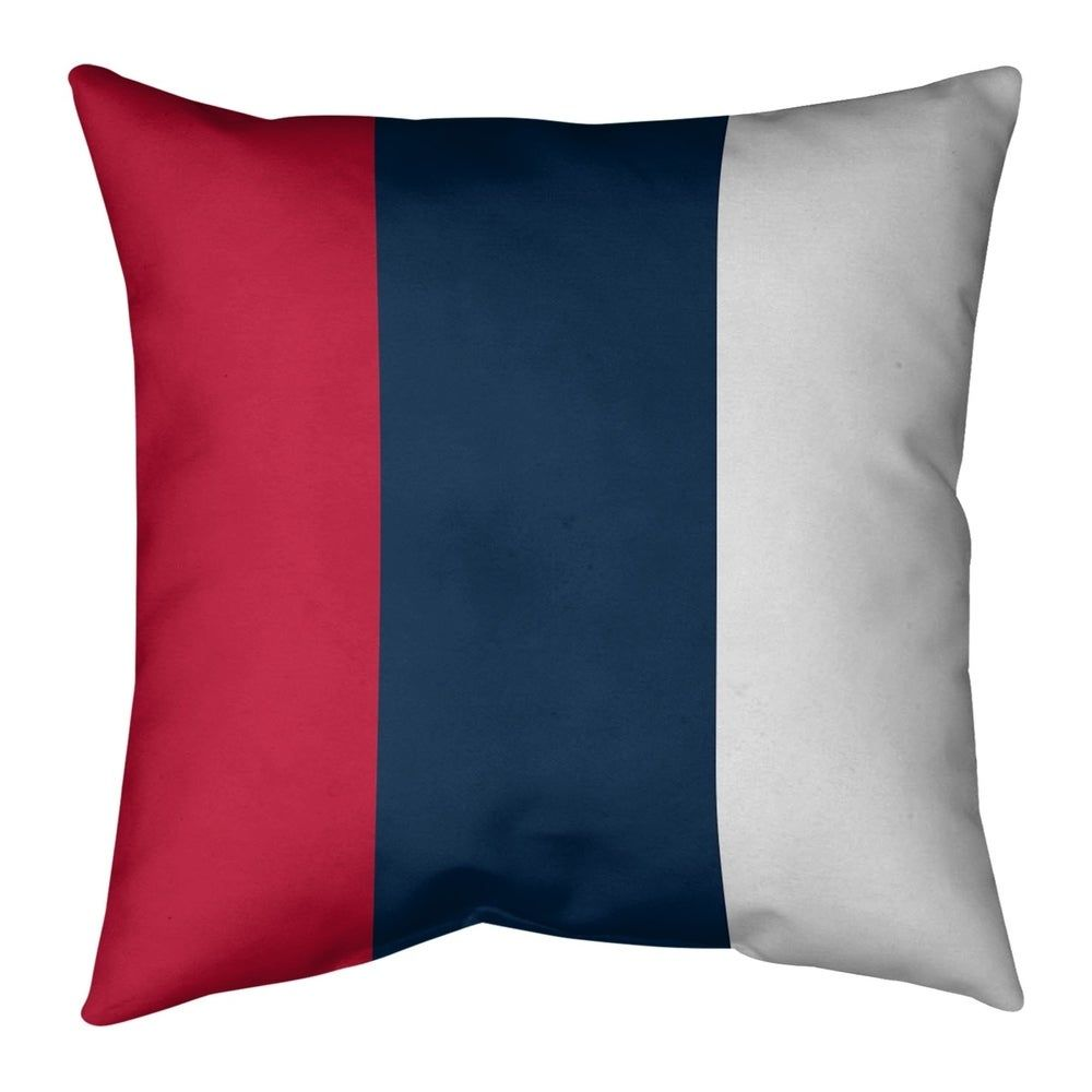 Best New England New England Football Stripes Pillow Faux Suede 400 x 300