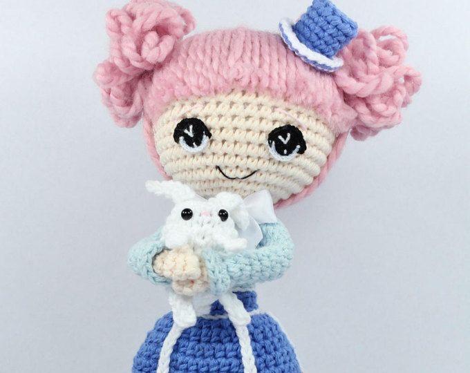 PATTERN: Alice in Wonderland Crochet Amigurumi Doll | Amigurumi doll ...