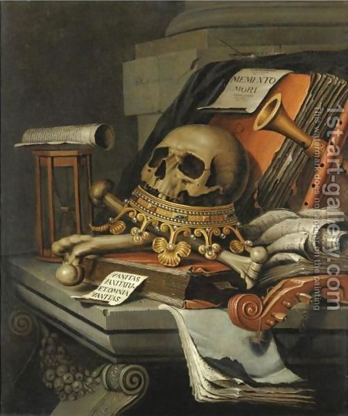 VINTAGE ANTIQUE BOOK SKULL HOURGLASS CANDLE CANVAS PRINT WALL ART PICTURE PHOTO