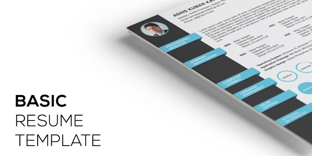 Resume Template Psd  Ultimate Collection Of Free Resume Templates