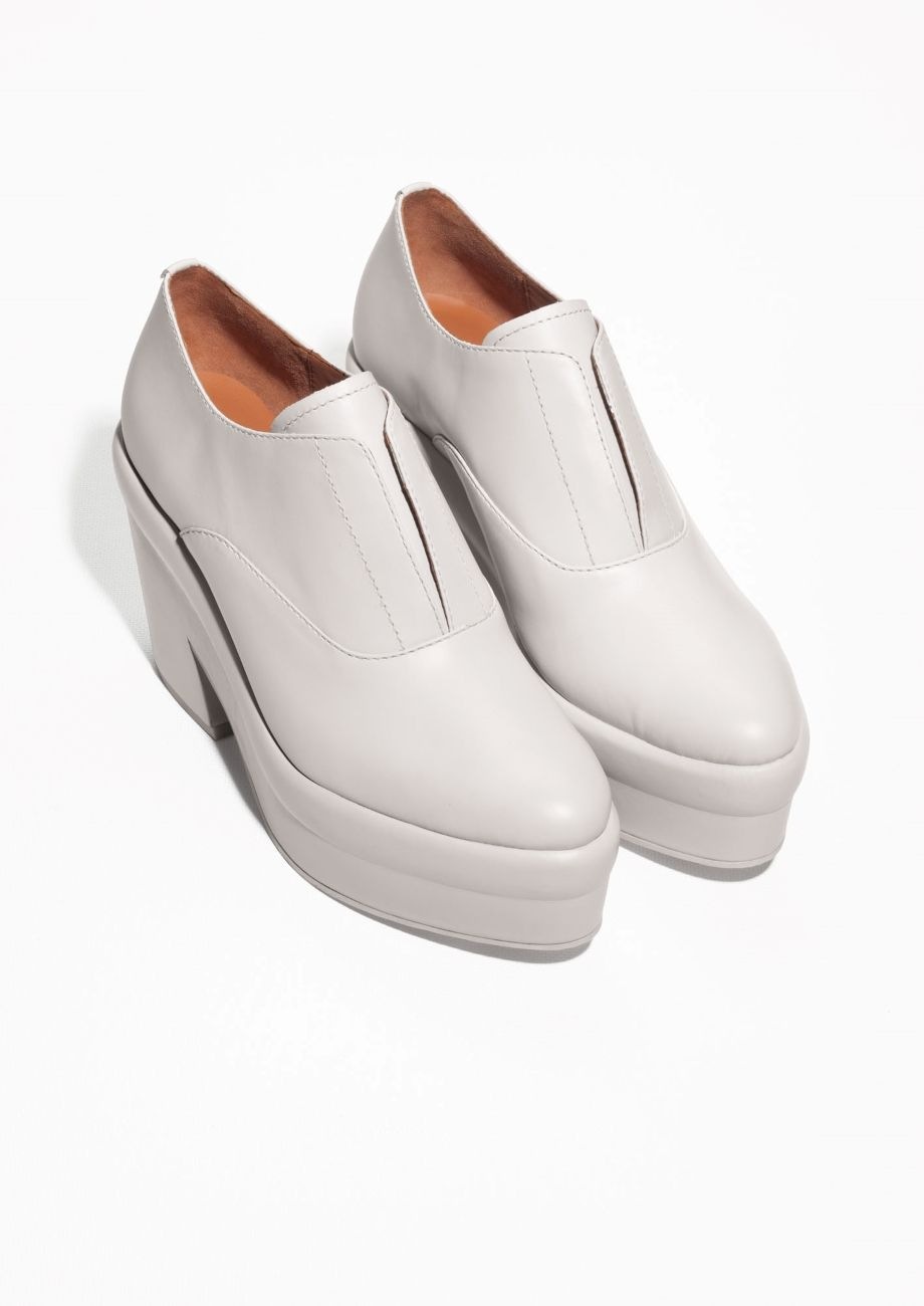 b10efe02c5d & Other Stories | Chunky Platform Leather Shoes | On my feet | Shoes ...