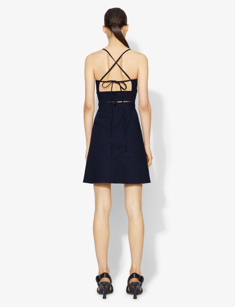 Proenza Schouler White Label Cotton Short Dress navy/blue 6