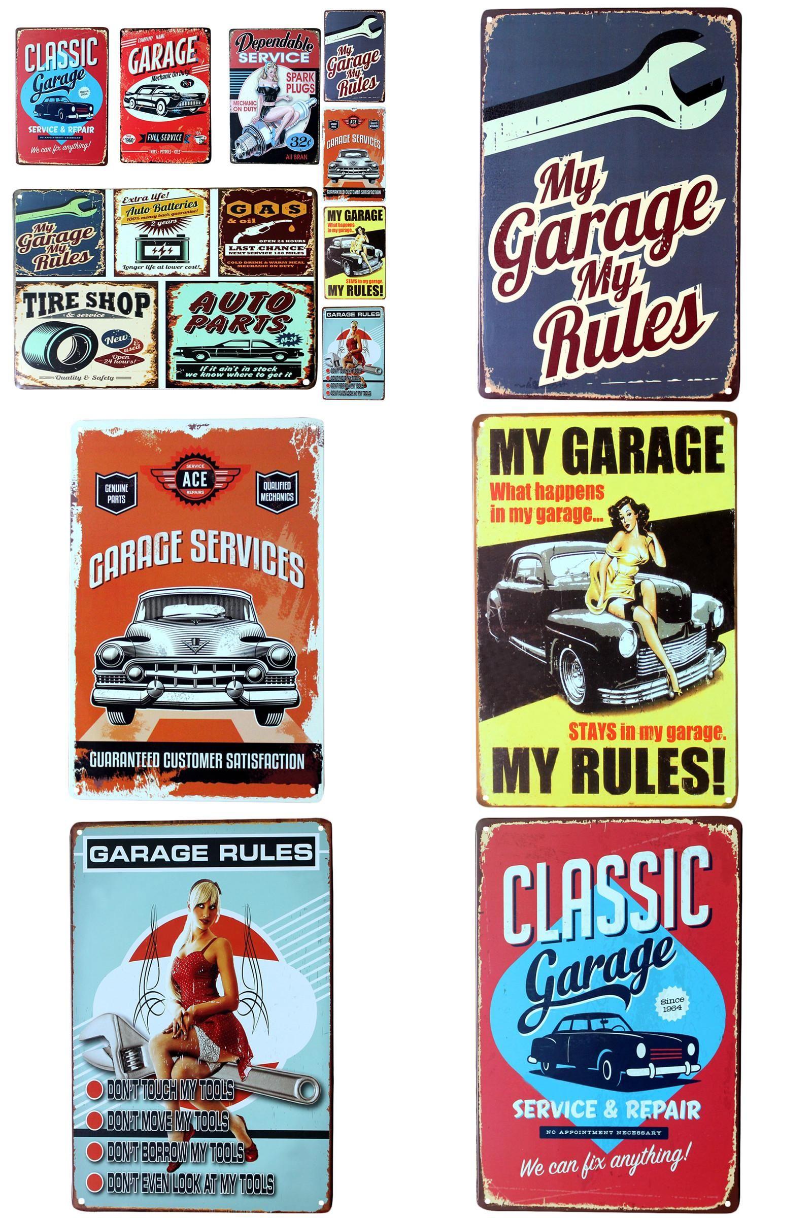 BMW Vintage REPRODUCTION Metal Sign Garage Sign Garage Services Metal Wall Sign
