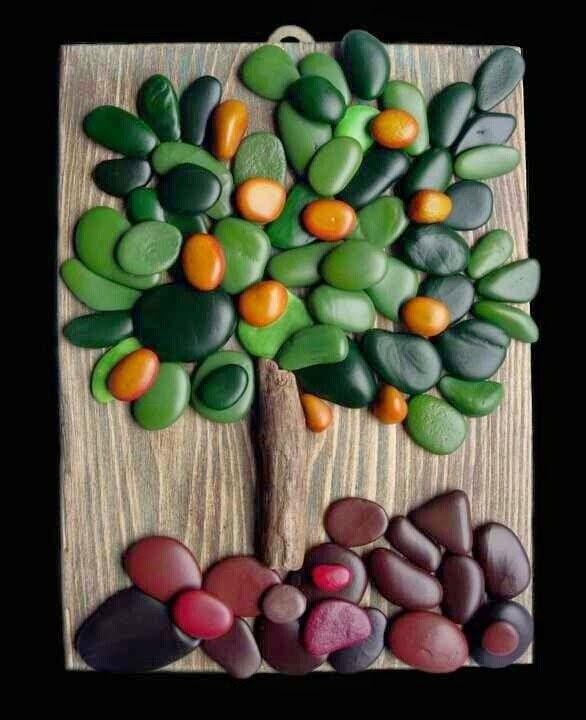 Armario Resina Carrefour ~ Art Rock Decorar pedras Artesanato decoraç u00e3o, Decore