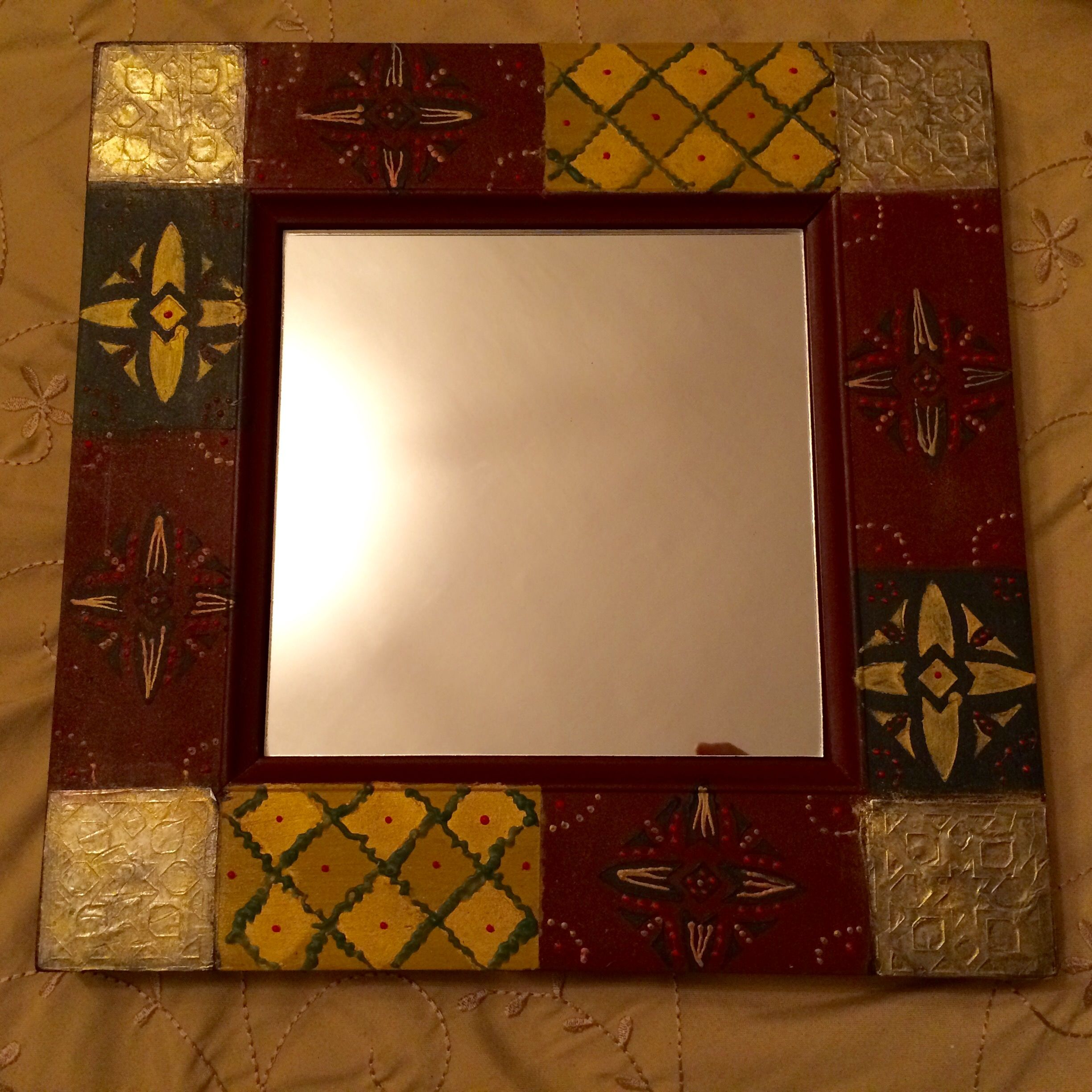 Painted mirror frame by #Elyassmine _jewelry#mirror#painting ...