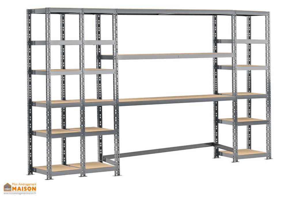 Meuble De Rangement En Acier Avec 4 Etageres 300 X 192 Cm Modulo Storage Meuble Rangement Rangement Armoire Rangement