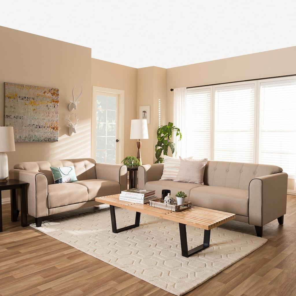 baxton studio lottie tufted sofa loveseat 2 piece set products rh pinterest com