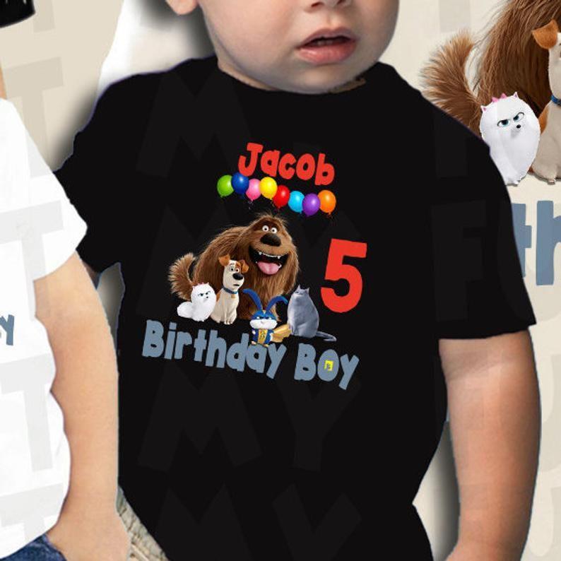 Secret Life Of Pets 2 Party Shirt Birthday Shirt Birthday Boy Max
